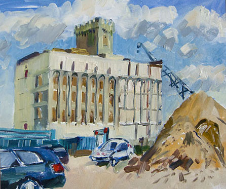 industrial building oil painting cambridge