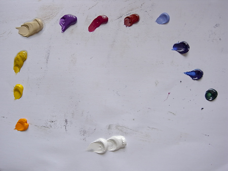 oil colour mixing