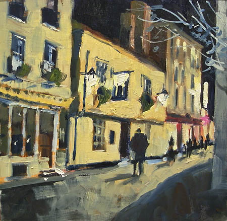bene't street nocturne painting in oil
