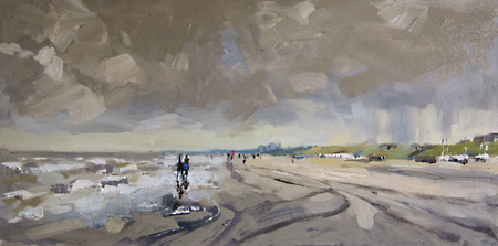 oil painting katwijk beach holland