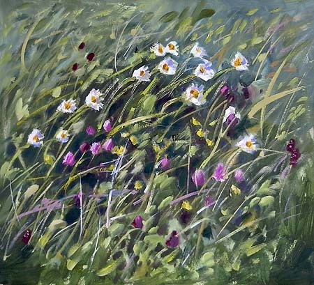 meadow flowers in oil