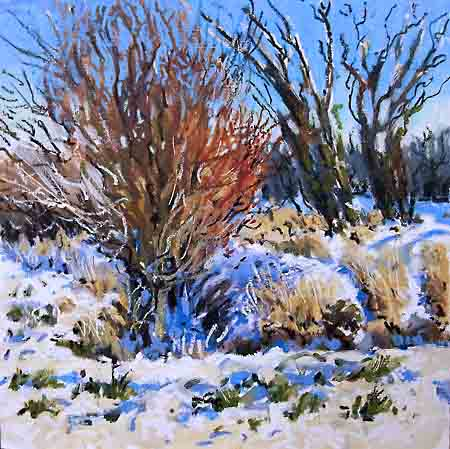 oil pastel in snow