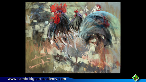 corry pastel of a cock
