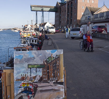 photo of pochade painting at wells next the sea
