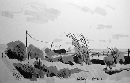 welney paintings sketches