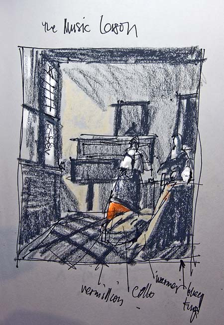 vermeer sketch lesson