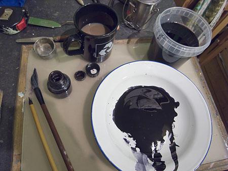 acrylic black ink