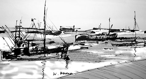 west mersea skech in pan and neopastel