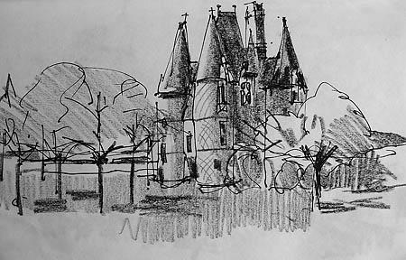 carrouges chateau gatehouse