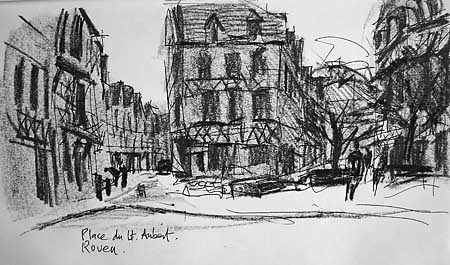 sketch in Rouen