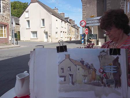 french village in swiss normandie